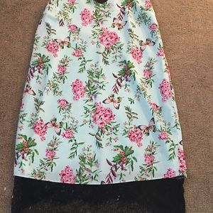 Slip dress floral design size Large
